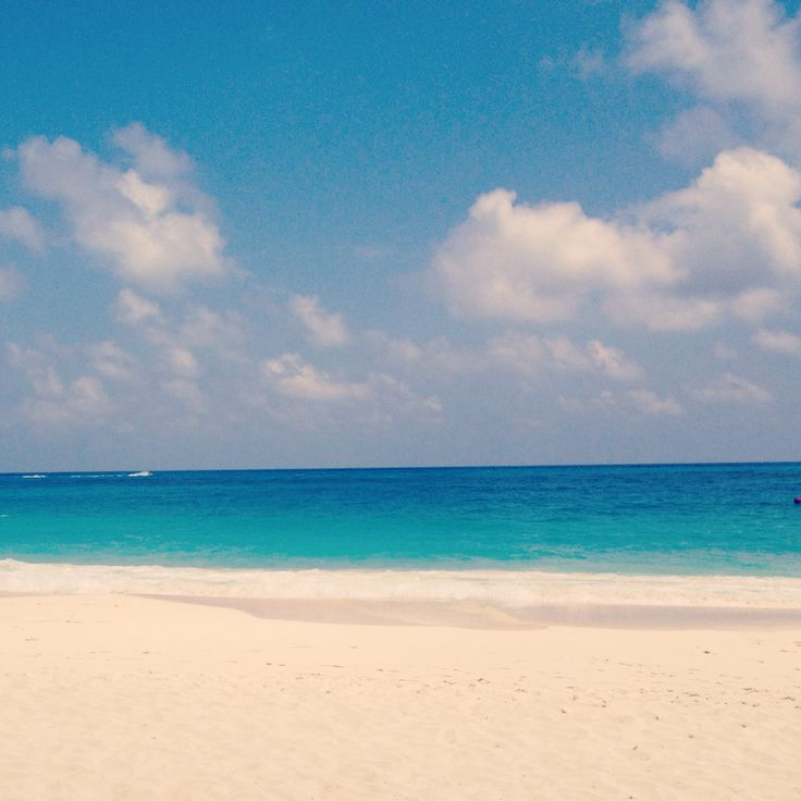Cancun Mexico beautiful beach with white sand and turquoise sea