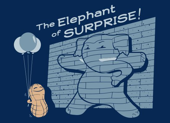 The Elephant of Surprise! T-Shirt   SnorgTees