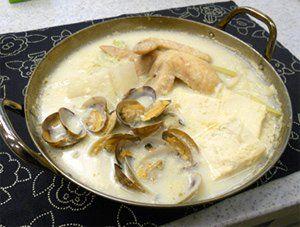 白チゲ豆乳仕立て