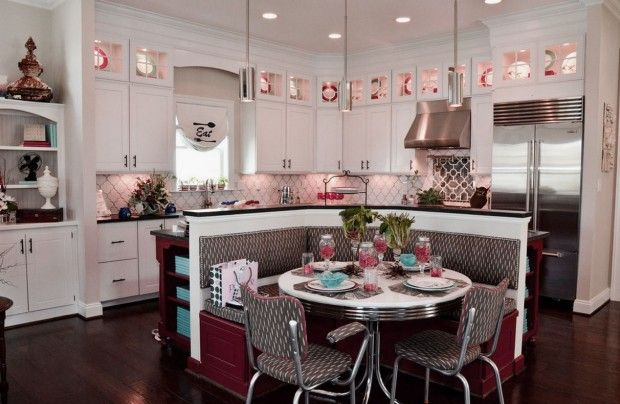 Marvelous Retro Kitchen Furniture Design Ideas with Amenities Diner
