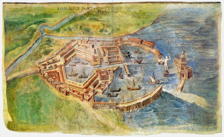 A reconstruction of the ruins of Portus from 1582