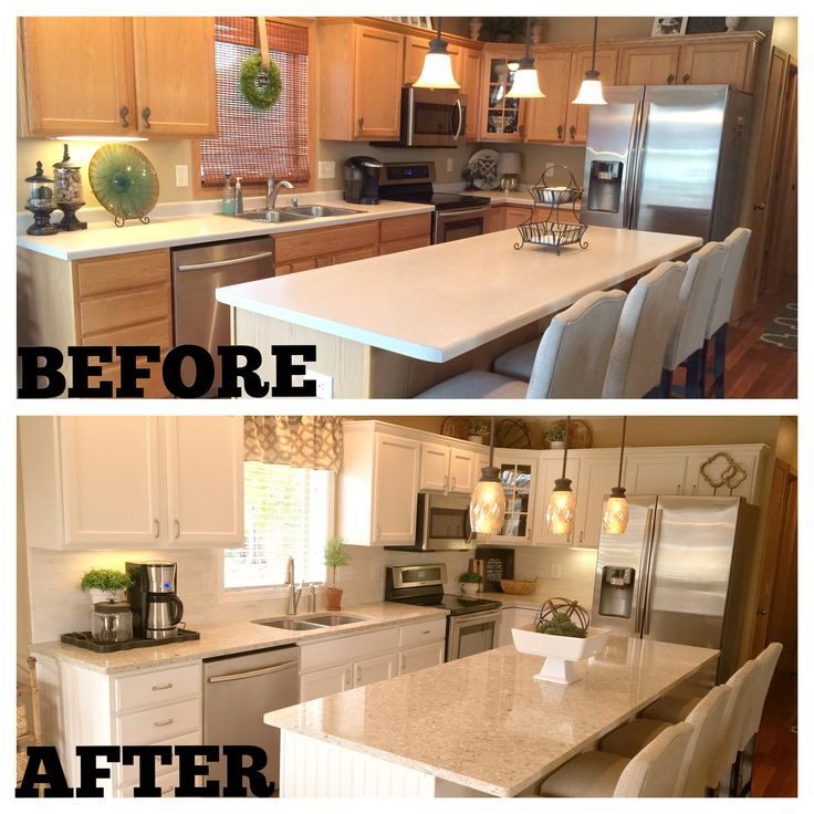 Formica Kitchen Cabinet: Before And After: Formica Countertops To Chakra Beige