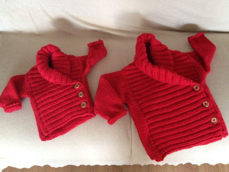 Suéter para bebé en dos agujas