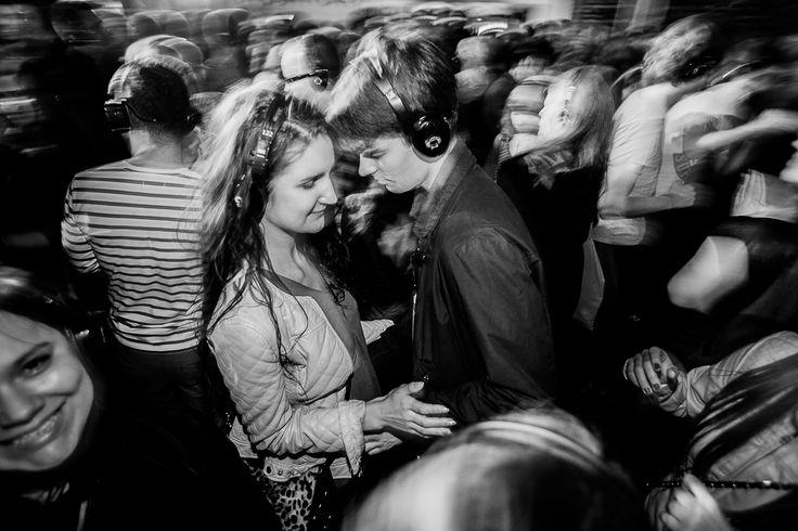 Poznan Poland, Malta Festival 2013, Silent disco w Centrum Festiwalowym na placu Wolności [fot.Marcin Oliva Soto]
