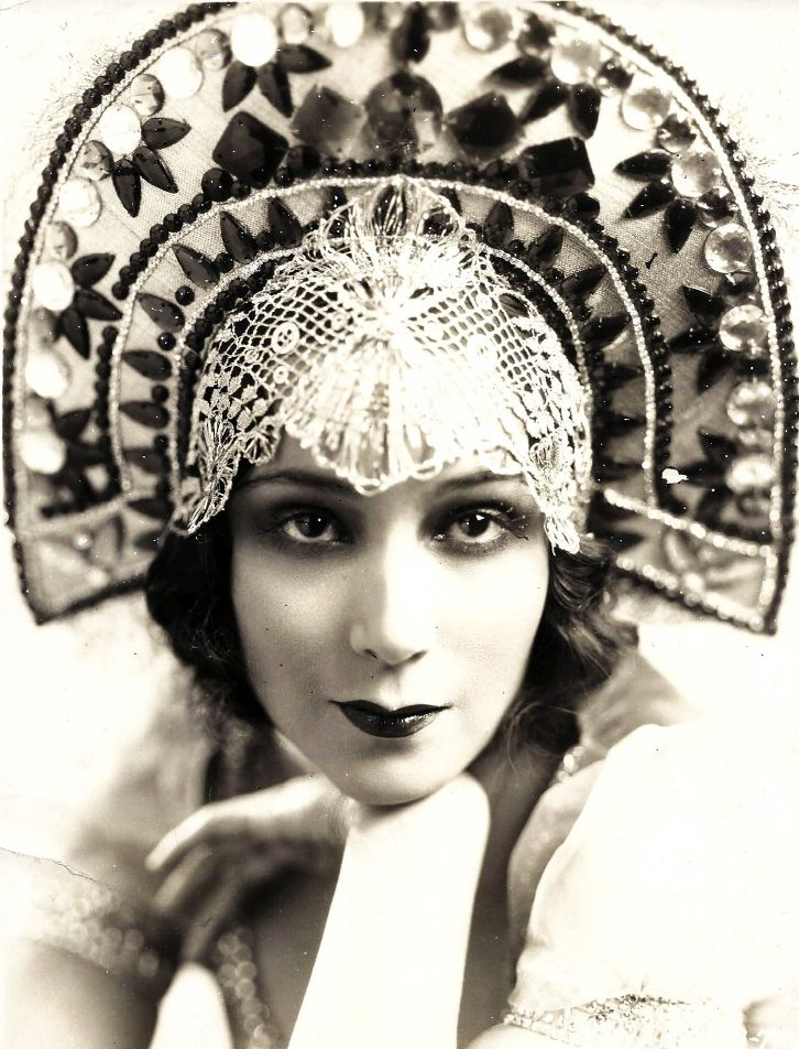 Dolores Del Rio (1905-1983).  Mexican film actress. She was a star in Hollywood in the 1920s and 1930s, and was one of the most important female figures of the Golden Age of Mexican cinema in the 1940s and 1950s. She was considered one of the most beautiful women of her time, a mythical figure in Latin America and quintessential representation of the feminine face of Mexico in the world.