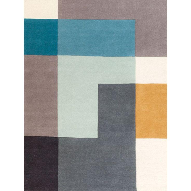 Vloerkledenwinkel Tetris Vloerkleed Aqua - 170 x 240 cm