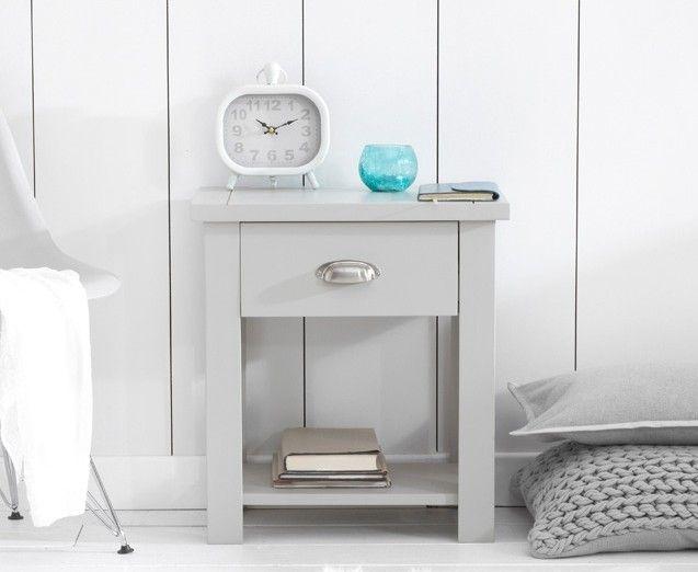 Ex Display Somerset Grey Bedside Table