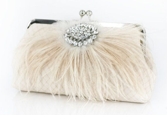 Ostrich feathers to match my dress and champagne to match my color scheme, so perfect