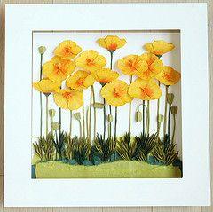 california poppy by whitepaper (paper folding artist redpaper) Tags: