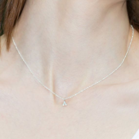 Sterling Silver Personalized Initial Necklace  by kristinelily, $21.00 <---- I want this! lol