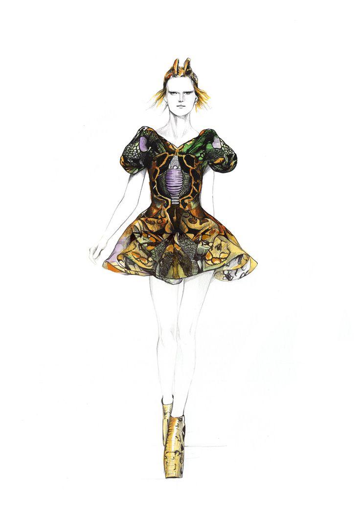 Alexander McQueen illustrations