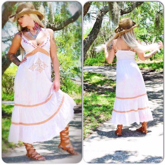 Sale S Stevie Nicks gypsy maxi dress, Bohemian sundress boho dress, boho Gypsy soul True rebel clothing