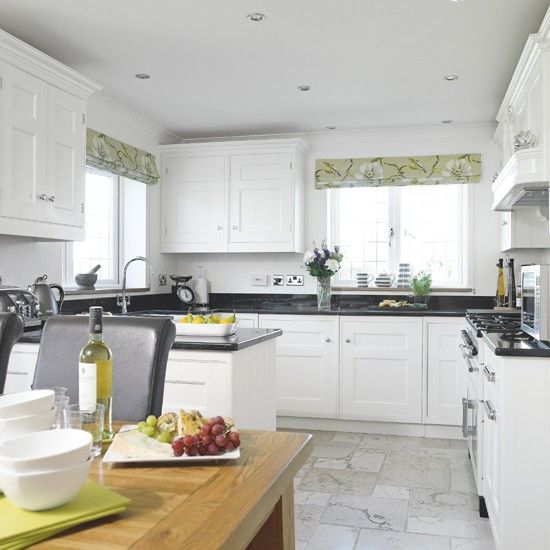 23 best images about kitchen on pinterest white shaker for Shaker style kitchen with granite