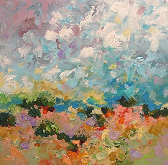 Abstract Landscape Giclee Print Made From My Modern Original Landscape Painting by Linda Monfort