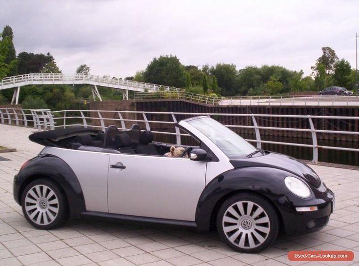 2007 57 VW BEETLE 1.9 TDI CONVERTIBLE/CABRIOLET/SOFT TOP BLACK/DIESEL SUMMER FUN #vwvolkswagen #beetlecabriolet #forsale #unitedkingdom