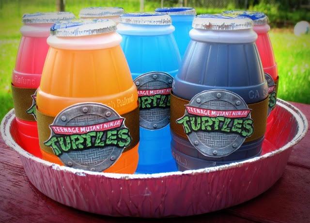 Teenage Mutant Ninja Turtles Party Drink Idea