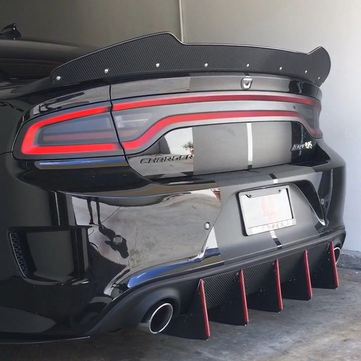 Rear Bumper Diffuser Custom Muscle Cars Dodge Charger Hellcat Dodge Charger Srt