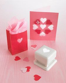 Surprise someone special with a beautiful card and be the hit of the party with these fun treat bags created by Michaels using our All-Over Heart and Dots punch