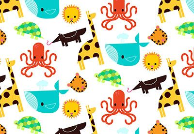 Preview for How to Create a Children's Flat Animal Pattern in Adobe Illustrator