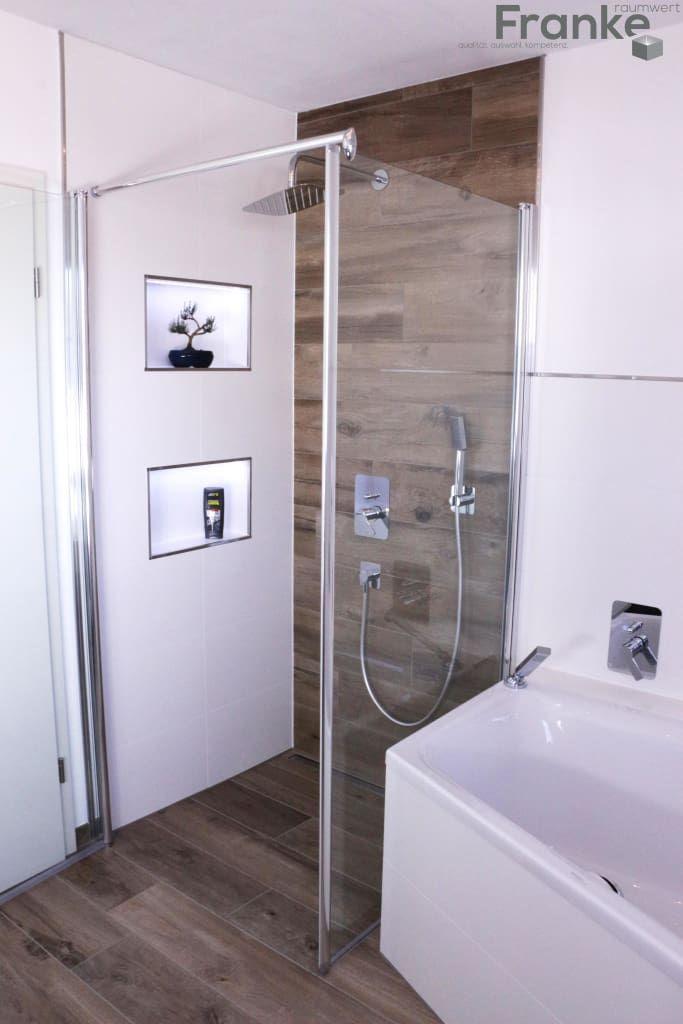Badezimmer in einer modernen holzoptik: badezimmer von elmar franke fliesenlegermeisterbetrieb e.k