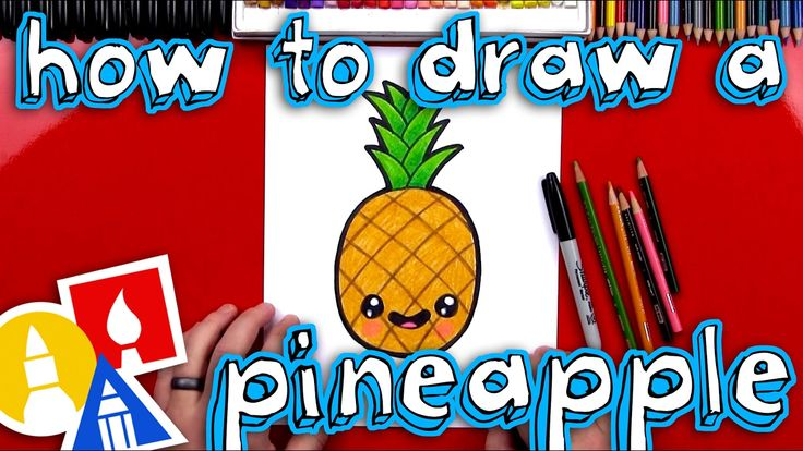 How To Draw A Cartoon PIneapple