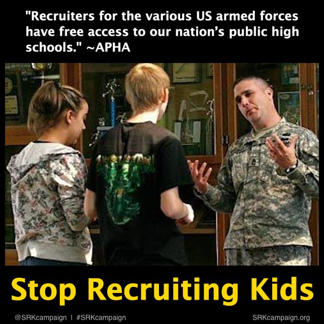 military recruiters in our high schools essay There are many reasons to join the military, including pay, benefits, education, training, travel, high paying jobs, health care, and more  defending our nation.