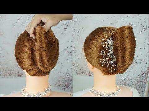 (1) Very Easy French Roll Hairstyle - Big French Bun Hairstyle With New Trick | French Twist ...