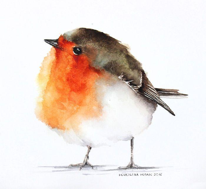 Ich Aquarell Vögel, um auszudrücken, wie sehr ich sie liebe