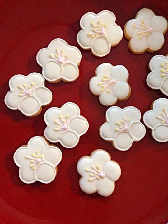 アイシングクッキー 梅の花