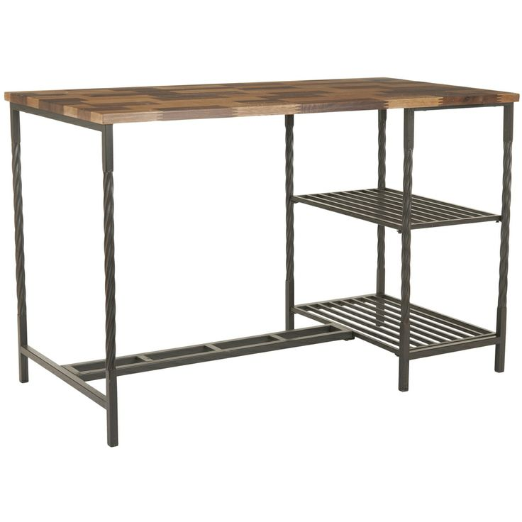 Safavieh Vienne Brown Desk | Overstock.com Shopping - The Best Deals on Coffee, Sofa & End Tables