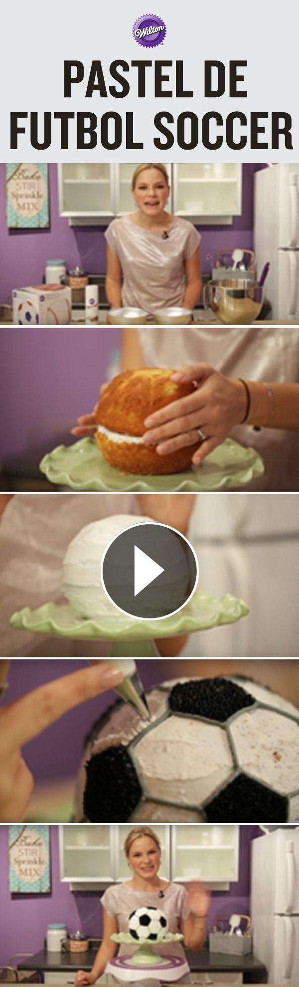 Aprende a decorar un pastel en forma de pelota, que puedes cambiar para cualquier deporte.
