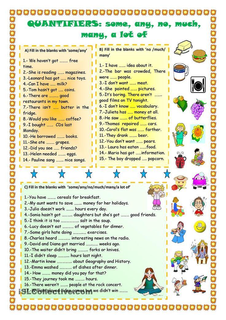 Quantifiers on Compound Words Worksheet Esl Efl Worksheets Kindergarten