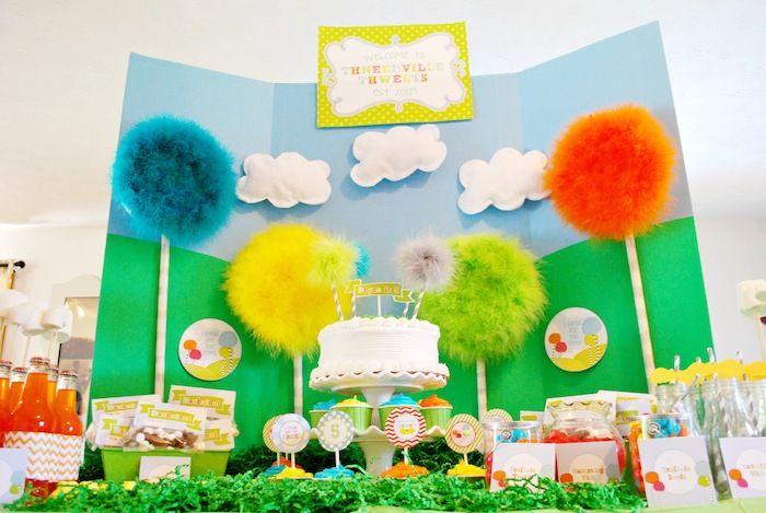 The Lorax themed 5th birthday party via Kara's Party Ideas KarasPartyIdeas.com #loraxparty #thelorax #drseuss Printables, decor, supplies, c...