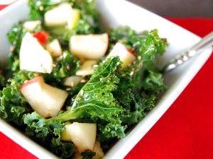 Harvest kale salad with honey-ginger dressing