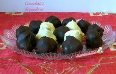 cioccolatini di pandoro,ricetta di riciclo per utilizzare il pandoro. Pandoro e nutella con copertura al cioccolato. Blog giallo zafferano.