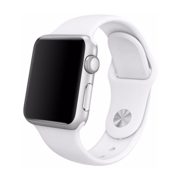 Replacement Silicone Band for Apple Watch ($8.99) ❤ liked on Polyvore featuring jewelry, watches, jewelry & watches, white, white wrist watch, unisex jewelry, silicone watches, white silicone watches and white watches