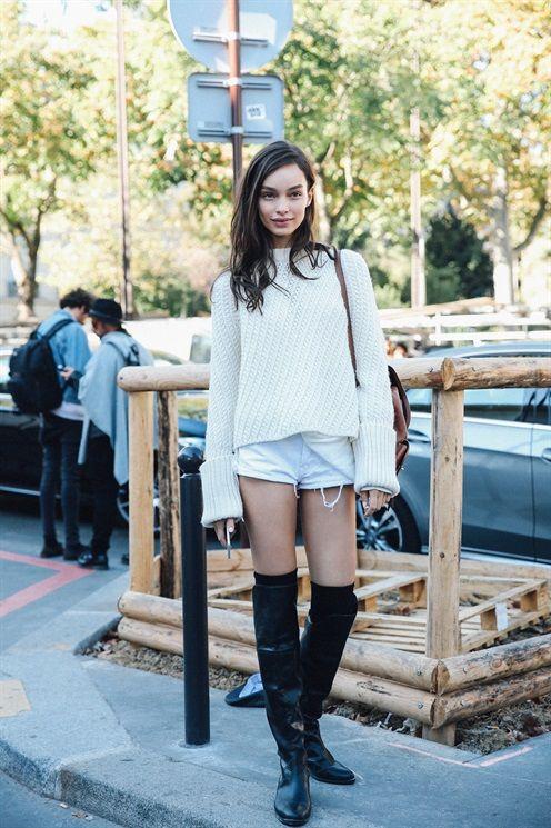LUMA GROTHE - SS17 PFW Model's look: lo stile delle modelle a Parigi - Vogue.it