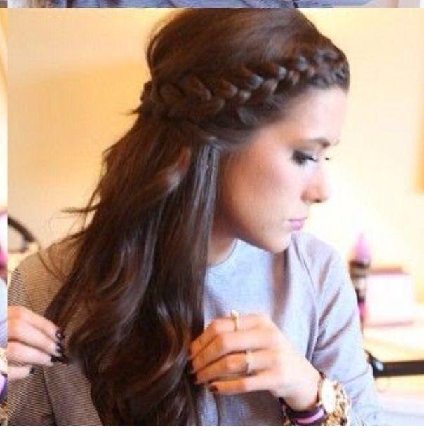 Dise o de trenza en cabello suelto cabello pinterest for Disenos de pelo