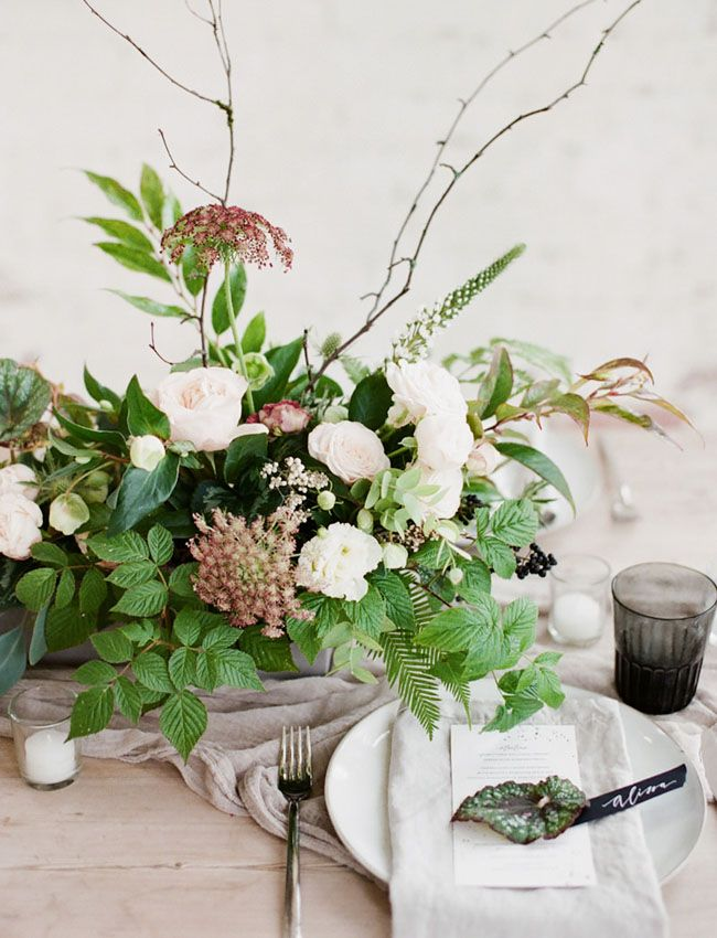 Organic Contemporary Inspiration with touches of greenery