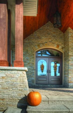 Arch Entrance Porch Ledge Stone Thin Ledge Stone South Bay