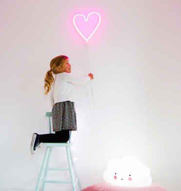 Neon Light Rosa Hjärta