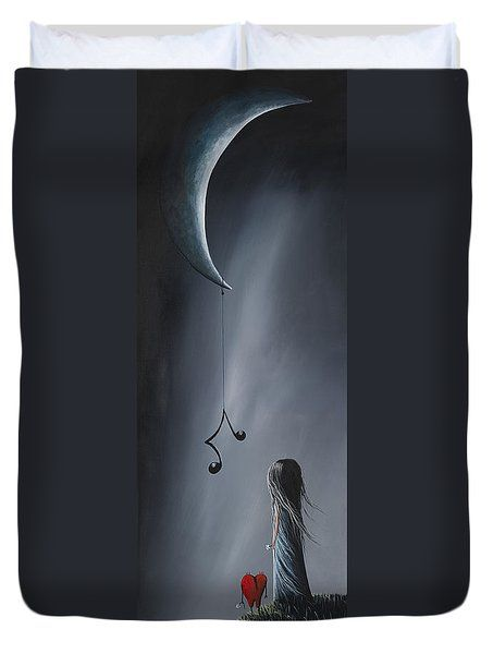 They Feel Your Love Song - Surreal Art By Shawna Erback Duvet Cover by Shawna Erback
