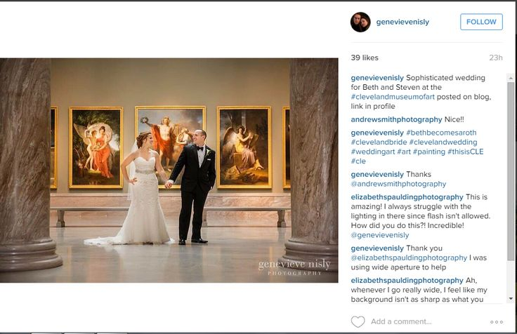 A great wedding shot from Instagram user and photographer genevievenisly