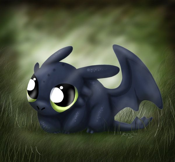 Aww. Toothless!