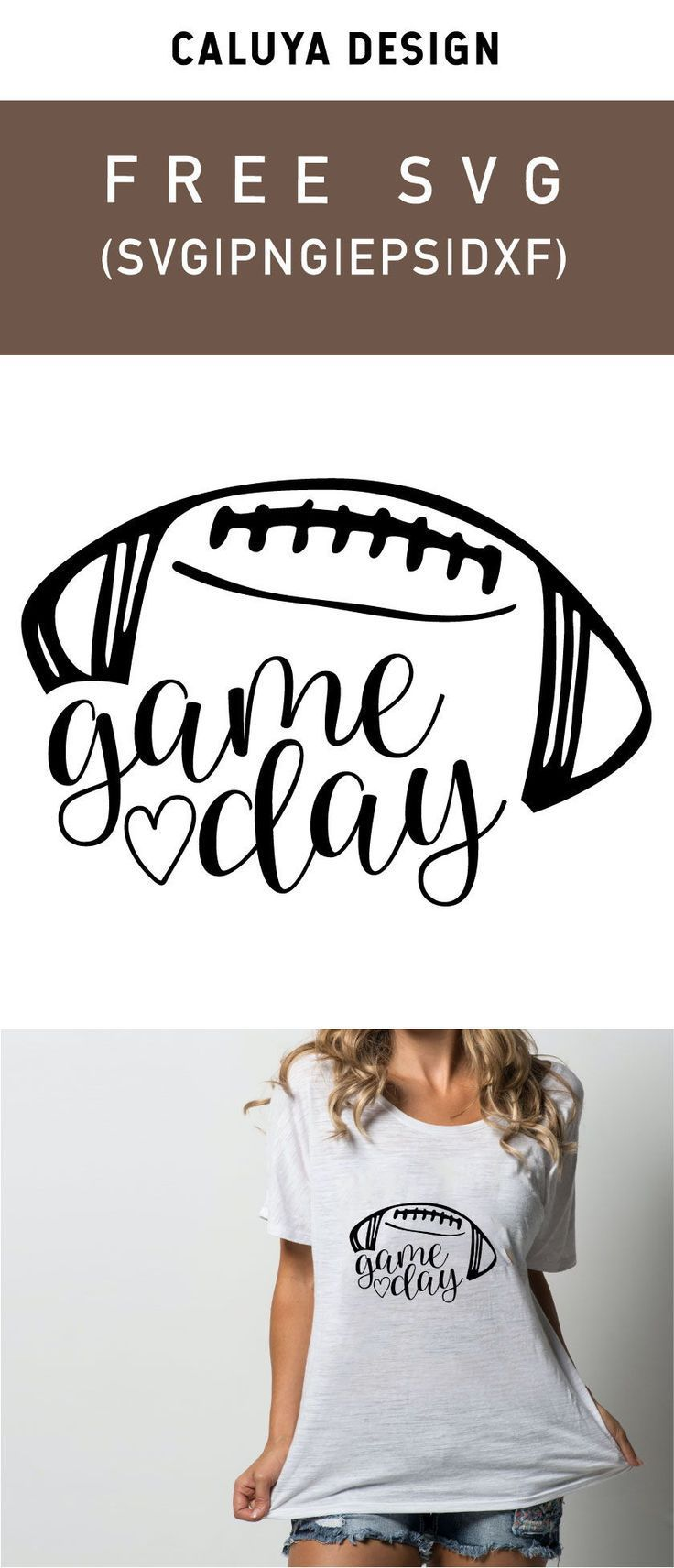 Free Football Game Day SVG, PNG, EPS & DXF by Cricut