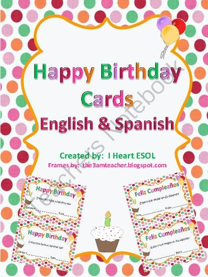 Free happy birthday cards english and spanish from i