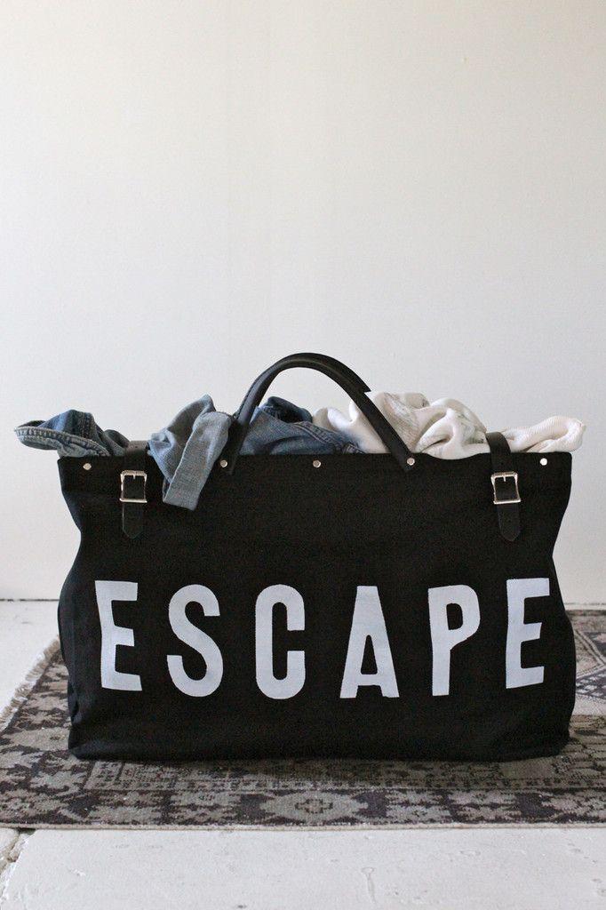 ESCAPE Canvas Utility Bag in Black