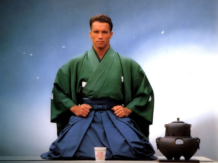 theactioneer:  Arnold Schwarzenegger Nissin Cup Noodle ad (1989)