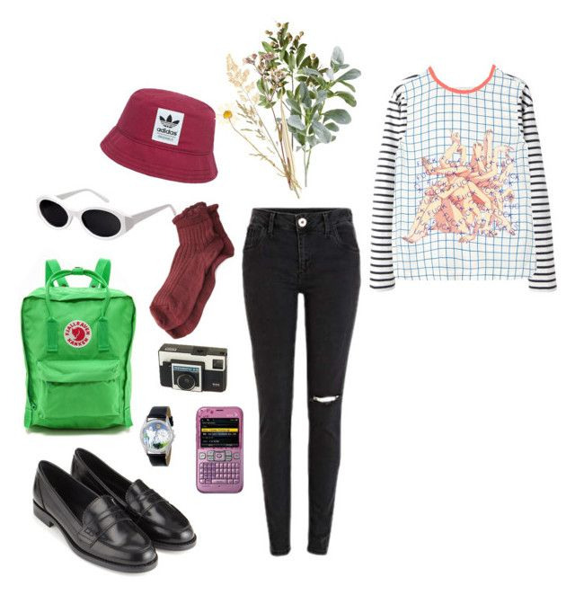 """""""fuxk"""" by pallo ❤ liked on Polyvore featuring Burberry, Fjällräven, Monsoon, adidas Originals, Polder, Wood Wood, Equipment, Crate and Barrel, Whimsical Watches and SCP"""
