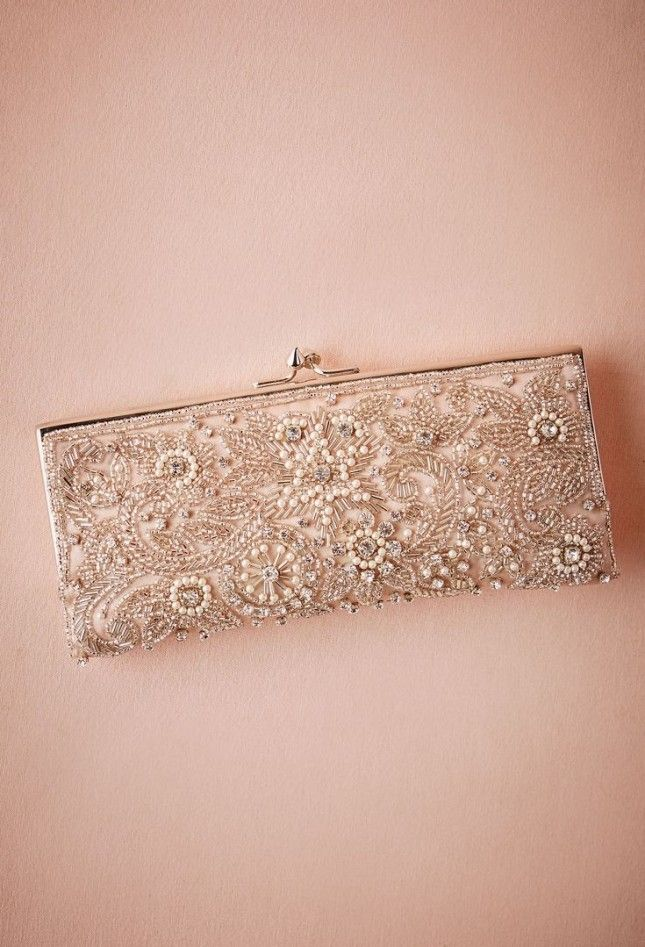 For the modern girl who also digs Old Hollywood charm and vintage vibes, this beaded clutch is way too pretty to pass up.